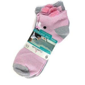 Cuddl Duds Soft Low Cut Socks Cat/Panda 6 Pair